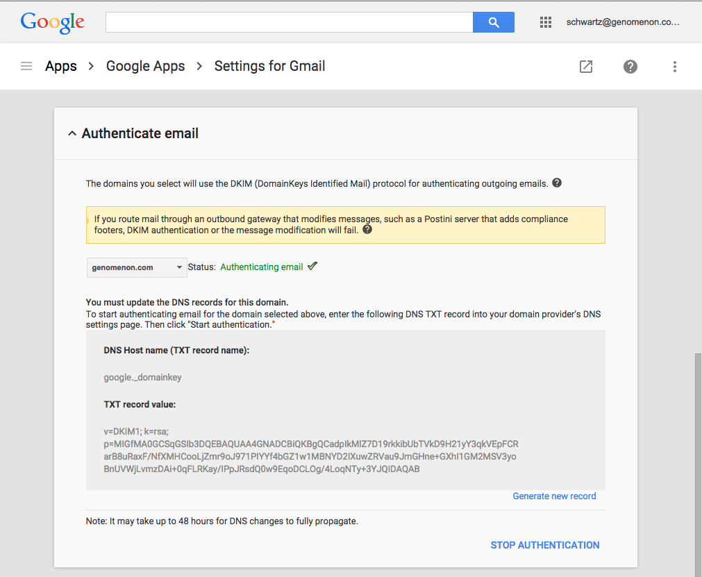 Setting Up Google Apps Email